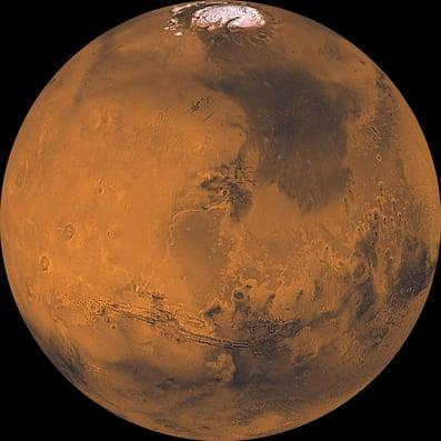 Mars et ses couleurs : NASA