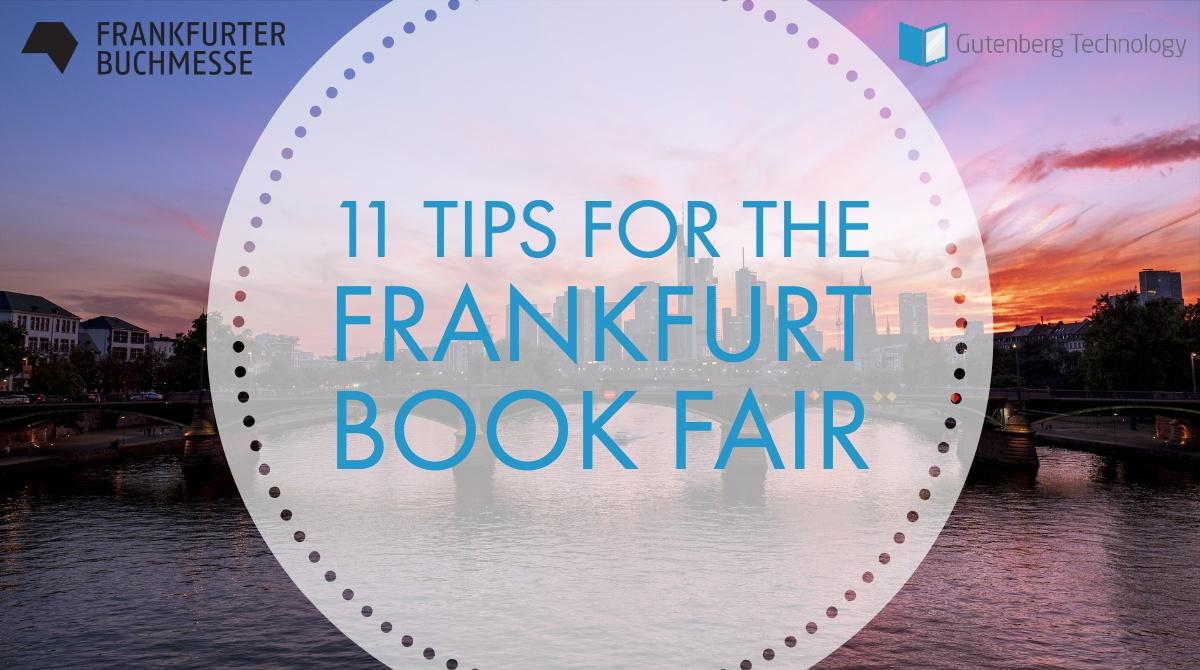 11 Tips for the 2018 Frankfurt Book Fair
