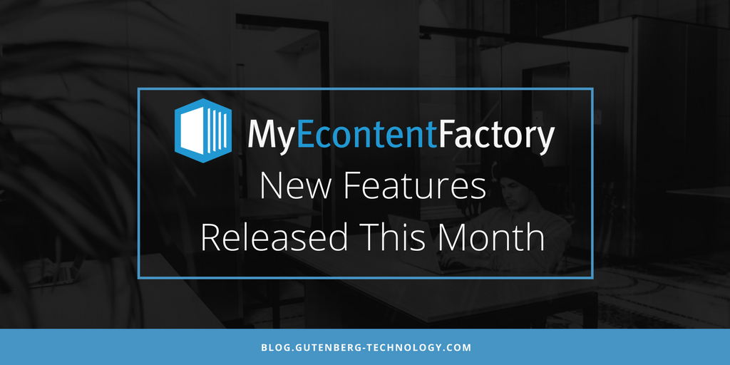 New Releases of MyEcontentFactory This Month